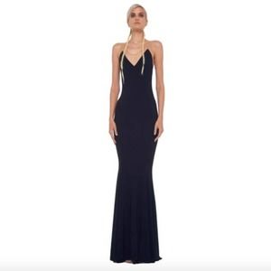 Norma Kamali KULTURE Racerback Fishtail Maxi Dress